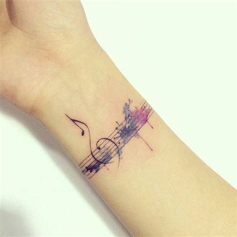 watercolor tattoo music 17 best images about mini tattoos on ankle