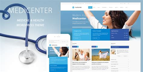 wordpress theme free hospital medicenter health medical clinic wordpress theme by