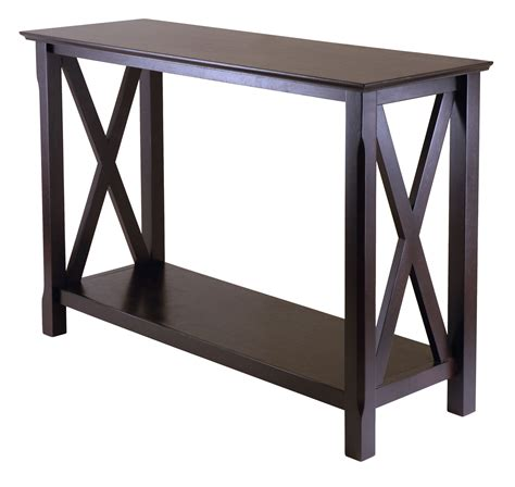 X Cappuccino Sofa Table In Accent Tables Sofa Accent Tables