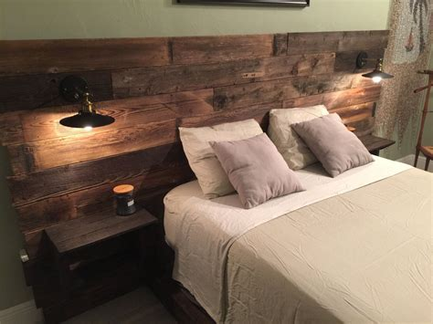 beds with lights in headboard rustic headboard reclaimed headboard board with