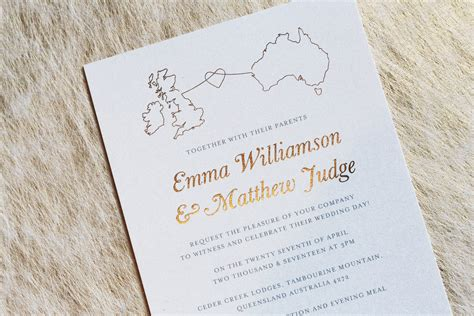 invitations weddings abroad stationery for a wedding abroad an essential guide foil invite company