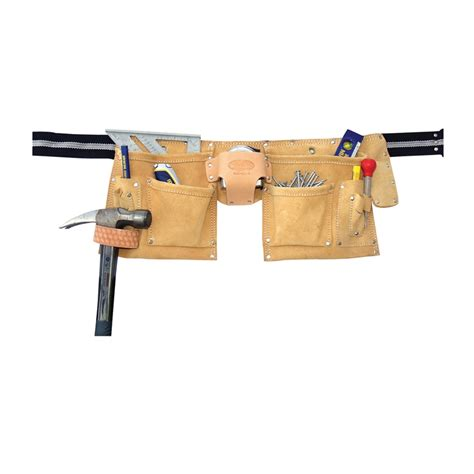 iwrin rooster 10 pocket split leather construction tool belt