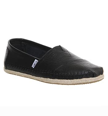 Black Master Original Casual Shoes Work Office Casual toms classic slip ons black leather casual