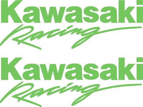 Sticker Kawasaki Racing by Kawasaki Motorbike Logo Design Custom Kawasaki Graphics