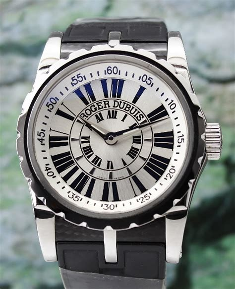 Roger Dubuis Matic Brown Rubber roger dubuis hj jewellery singapore reliable