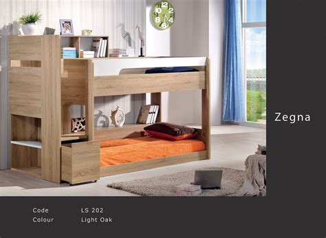 zegna single bunk bed oak white find  quality bunk beds kids beds  bambinohome