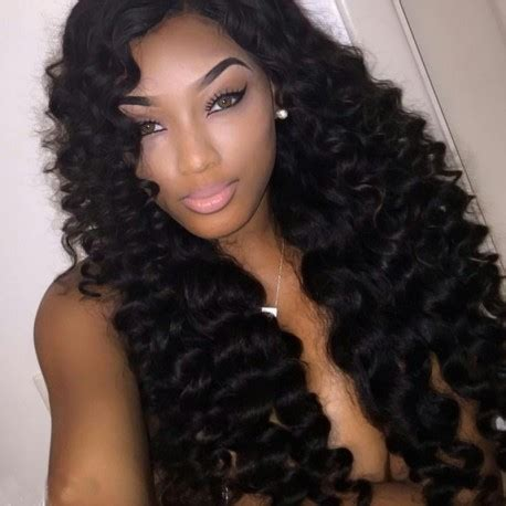 loose deep wavy hair photo 4 bundles lot loose wave pisces wig