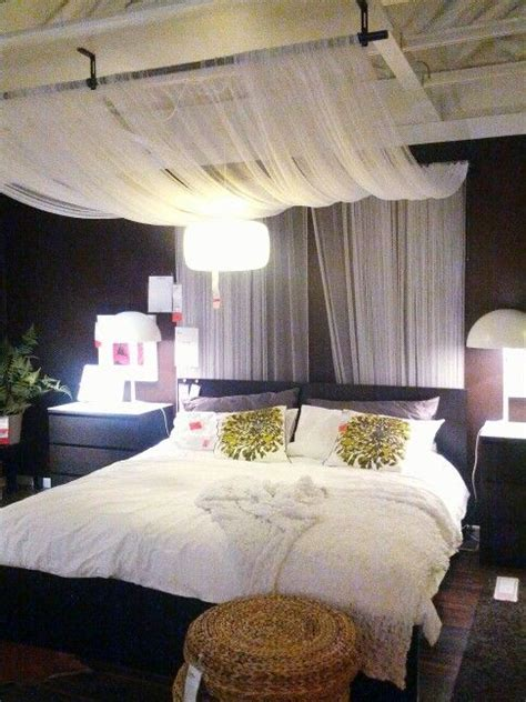 Lights And Draping Bedroom Best 25 Curtain Bed Ideas On Canopy
