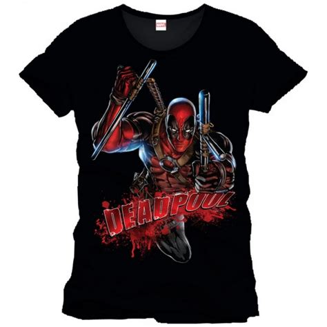 Tshirt Attack The Pack deadpool black t shirt bloody attack forom47