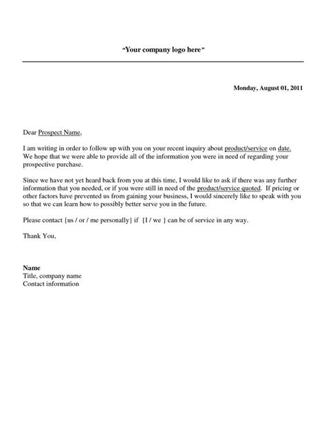 sle follow up letter after sending resume follow up sales letter a potential sales prospect has