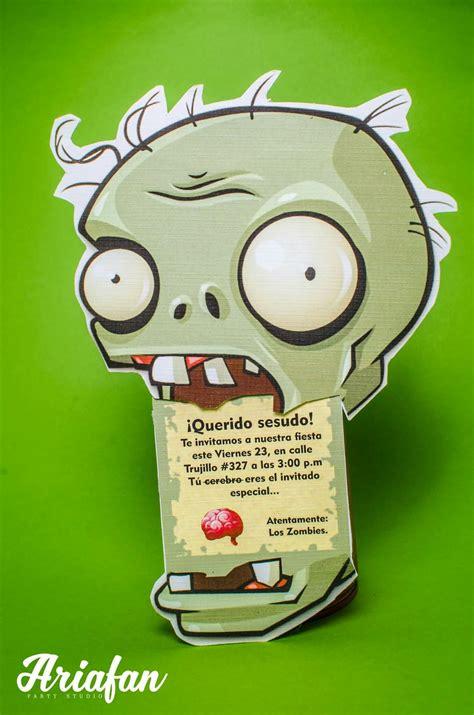 imagenes de zombies originales decoraci 243 n para cumplea 241 os de plants vs zombies ideas