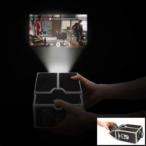 Proyektor Smartphone who needs an expensive digital projector when you can use a cardboard smartphone projector the