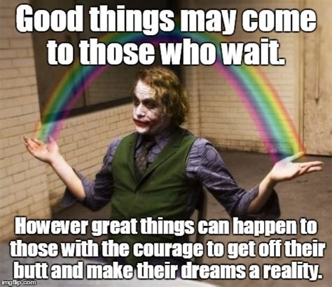 by hook by hand good thing come in small packages joker rainbow hands meme imgflip