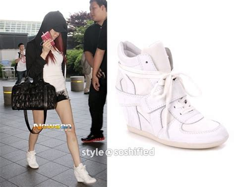 Boots Wedges Korea Style White ash bowie wedge sneakers white color worn by in