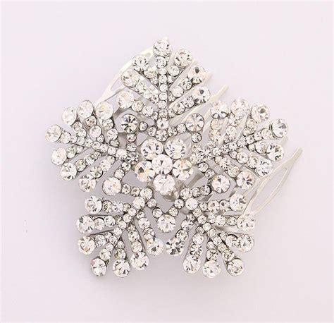 Wedding Hair Accessories Snowflake by Snowflake Hair Comb Winter Wedding Bridal Hair Comb