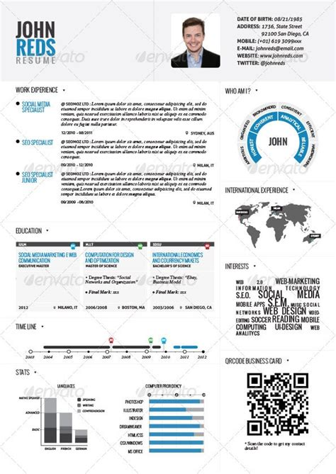 most popular resume templates most popular infographic resume template in 2014
