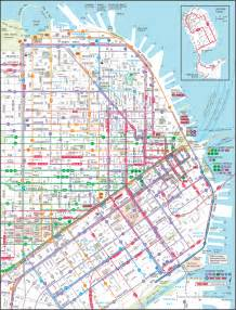 San Francisco Hotels Map by Downtown San Francisco Transit Map San Francisco Ca Us