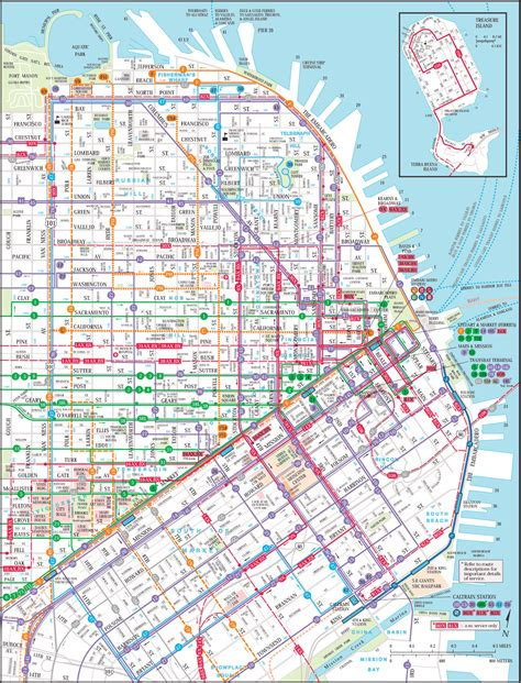 san francisco map san francisco map downtown