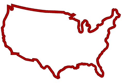 us map outline clip us map outline