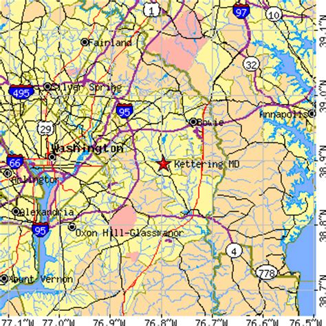 zip code map upper marlboro md kettering maryland md population data races housing