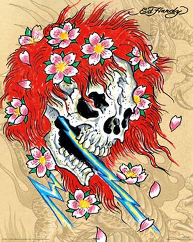 ed hardy skull tattoo designs ed hardy mini poster print ebay