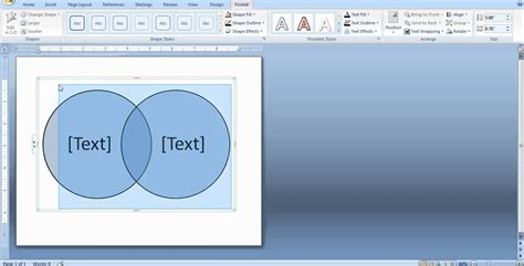 how to make venn diagram in word how to create a venn diagram in word and powerpoint