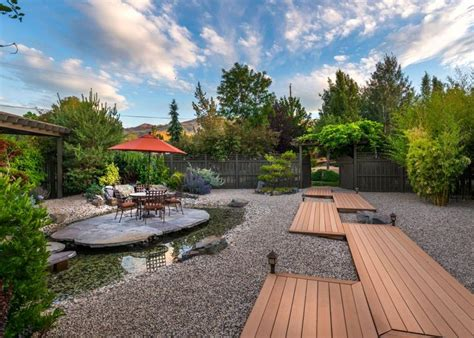 nevada backyard dining patio built over pond water feature reno