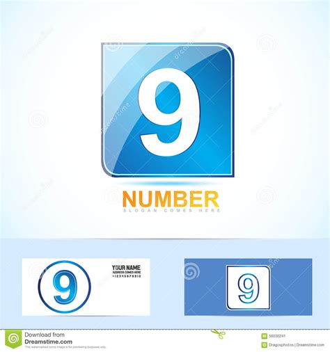 Number Nine 9 Logo Stock Vector Image 56030241 Vector Company Logo Element Template