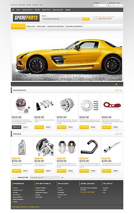Spare Parts Magento Theme Auto Spare Parts Website Template Free