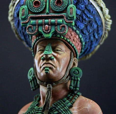 skull in headdress priest aztec on shoulder pin by hellen on aztec mayan misc