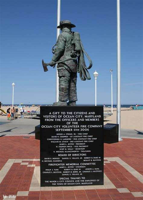 outskirts  suburbia ocean city firefighters memorial