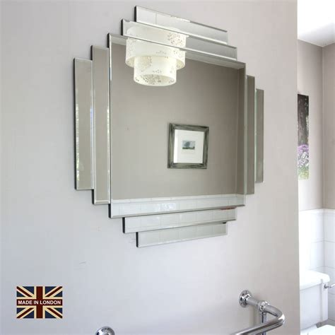 Uk Made Art Deco Glass Mirror By Decorative Mirrors Online Deco Bathroom Mirror