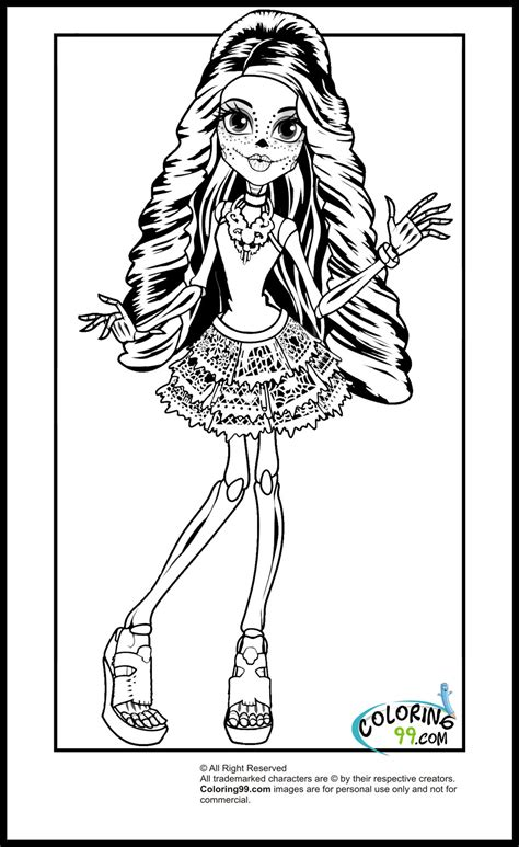 monster high skelita calaveras coloring pages monster high travel scaris coloring pages team colors