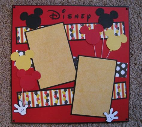 Disney Idea Book Scrapbooking And Crafting Ideas 12 x 12 disney 2 page scrapbook layout mickey balloons