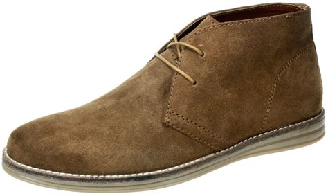 mens yarrow brown navy lace up leather suede