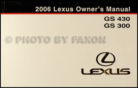 old car manuals online 2006 lexus gs navigation system 2006 lexus gs 300 and gs 430 navigation system owner s manual original