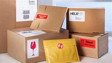 Dhl Etikett Drucken Online by Paketversand Avery Zweckform
