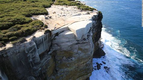 wedding cake rock australia s wedding cake rock may collapse into the sea