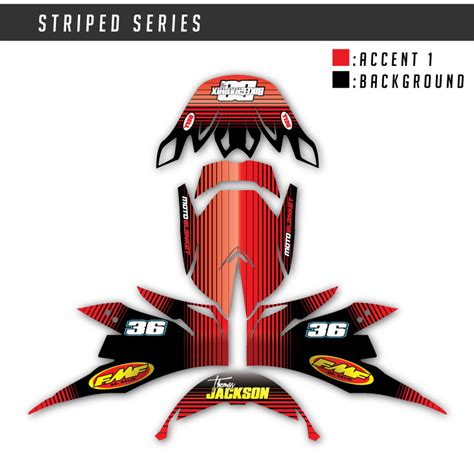 motocross helmet decals motocross helmet wrap striped series bikegraphix