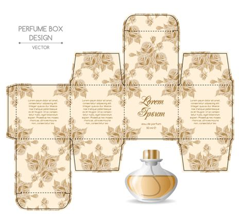 Perfume Box Packaging Template Vectors Material 03 Vector Cover Free Download Perfume Label Design Templates