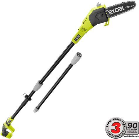 ryobi one 8 in 18 volt lithium ion cordless pole saw