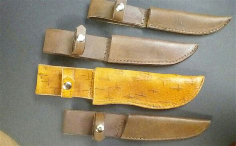 Handmade Knife Sheaths - handmade knife sheaths by ghost town leather custommade