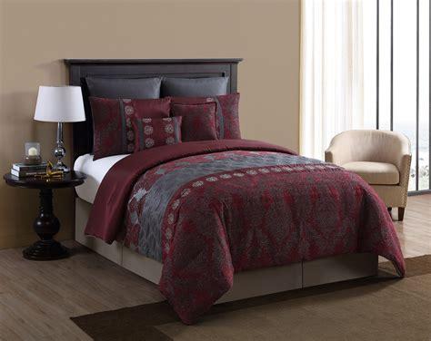 maroon comforter set 8 piece comforter set burgundy crescent