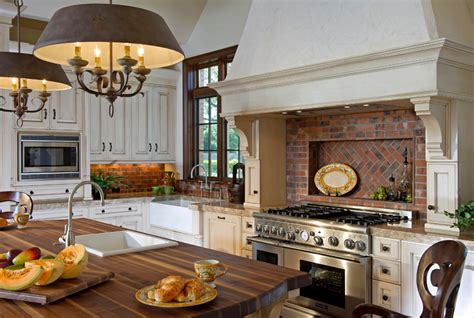 country kitchen like the light brick back splash inspiring kitchen backsplash ideas backsplash ideas for