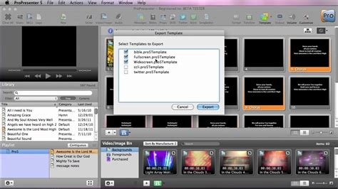 Propresenter 5 Importing And Exporting Templates Youtube Propresenter Templates