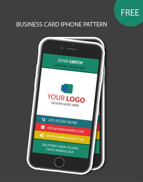Business Card Iphone Template by Iphone Pattern Business Card