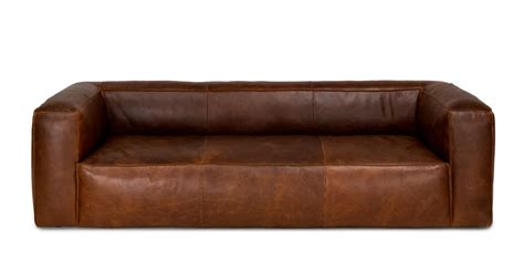 cigar rawhide brown sofa leather sofa  leather sofa