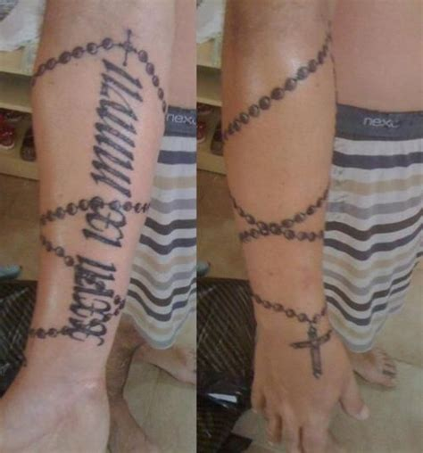 cross rosary beads tattoos best 25 rosary on arm ideas on