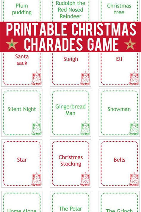 what am i playing charades literacy game cards and christmas charades game printable game cards