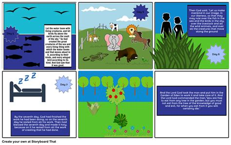 the genesis creation story genesis creation story 2 storyboard by imaniacgamez